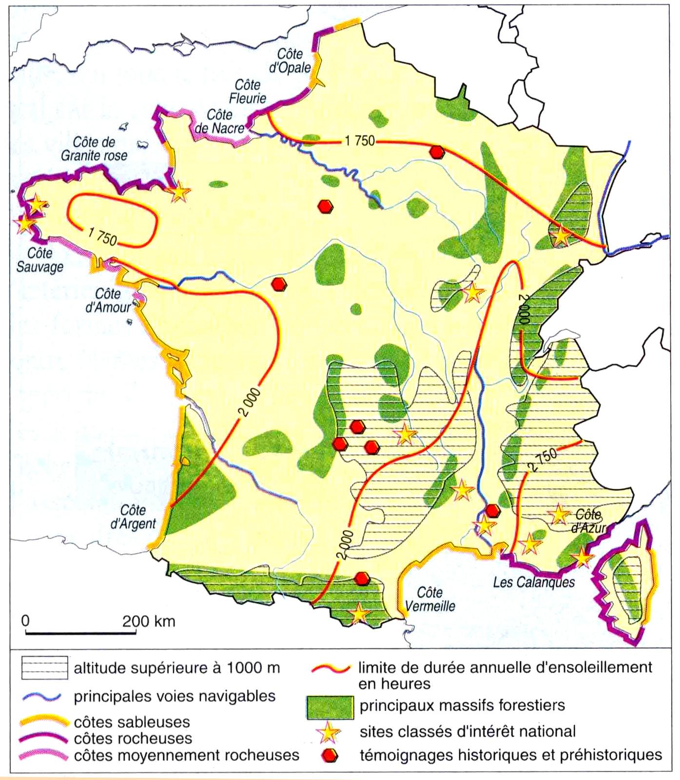 Info carte de france des sites touristiques voyages for Carte touristique
